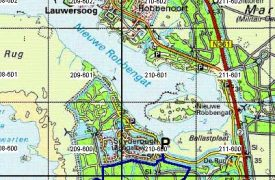 Kaart wandeling Ballastplaat Lauwersmeer Lauwersoog