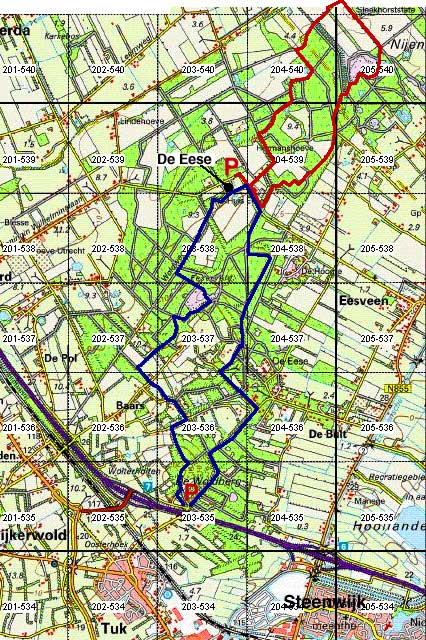 Wandelen Woldberg en Landgoed De Eese, Steenwijk
