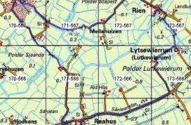 Routekaartje wandeling Littenseradiel, Reahûs, Rien, Easterein