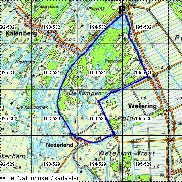 Routekaartje De Wetering, Kalenberg